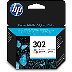 HP 302 F6U65AE - Cartucho de tinta para impresoras (4 ml), tri-color
