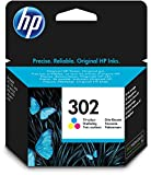 HP F6U65AE 302 Original Ink Cartridge, Tri-color, Pack of 1