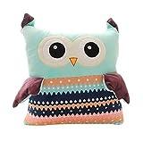 Koala Superstore Warme Hände Decken Kissen Plüsch Spielzeug Geburtstagsgeschenk für Mädchen große Kissen grüne Eule