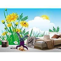 Carta da parati fotografica Girasole astratto numero 8TG 651's poster da parete parati adesivi da parete adesivi per bambini Fotomurale bambini carta da