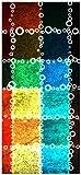Türtapete Türposter Buntes Patchwork-Muster mit Kreisen - Größe 93 x 205 cm
