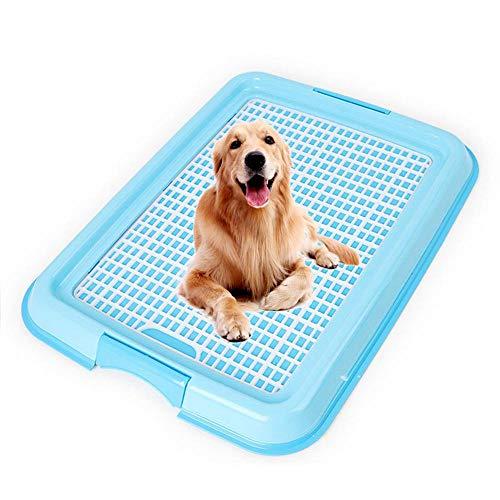 WooyMo Indoor Hund Töpfchen Matte, Hund Training Tabletts Pet Mesh Töpfchen Toilette halten Pfoten trocken und Böden sauber regelmäßige reinigen Boden Wurf Tablett Pfanne Halter -