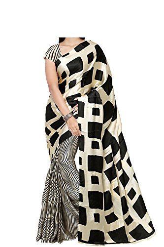 Veronika Closet Women\'s Multi Colour Georgette Saree With Blouse Material