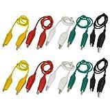 Analizador de cables - TOOGOO(R)10 x 50 cm Pinzas de cocodrilo de dos extremos Analizador de cables de alambre pinzas de cocodrilo