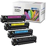 Liondo 4 Toner Kompatibel zu HP CE410X CE411A CE412A CE413A 305A 305X LaserJet Pro Color M351A M375NW MFP Pro 400 M451NW M451DN M451DW M475DN