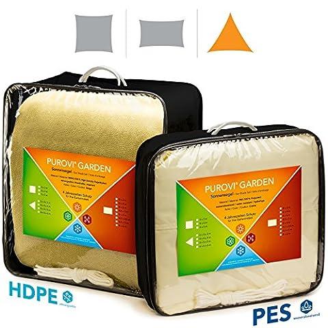 Purovi® Sonnensegel Dreieck | verschiedene Größen | UV Schutz |