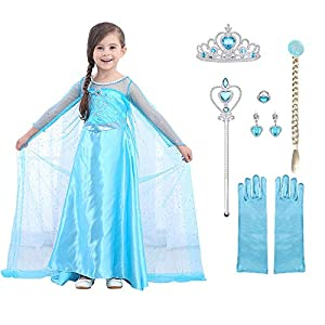 URAQT Disfraz de Princesa Frozen