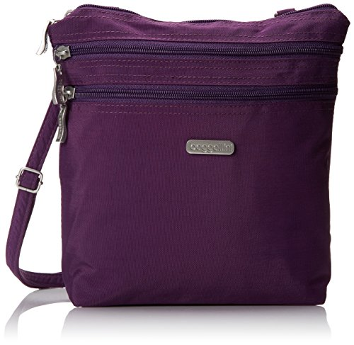 Baggallini Zipper Bag Borsa Messenger, Nero (Black) Viola