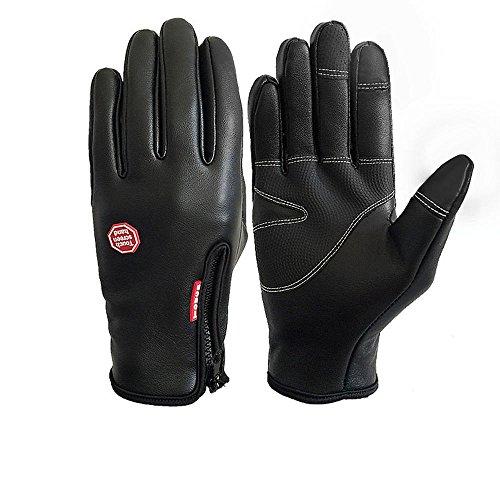 Touchscreen Handschuhe Winddichte Wasserdichte Rutschfeste verschleißfeste Warme Lederhandschuhe Vollfingerhandschuhe Winterhandschuhe für Outdoor-Sport