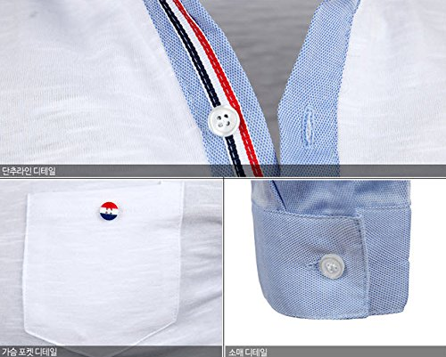 Herren Premium Thom Colored Langarm Kragen / Poloshirts T-Shirts Polo Shirts Navy blue