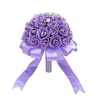 lzndeal Novia sosteniendo Flores Boda romántica Novia Ramo con Letras Amor