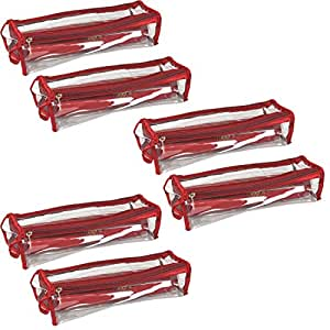 PrettyKraftsBangle Box Roll Set of 6 Travel Bangle case, Bangles Organiser_Maroon
