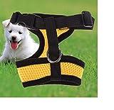 ILOVEDIY Gesunde Clubs weichem Mesh-Stoff Puppy Dog Pet Verstellbare Hundegeschirr Hunde Brustgeschirr Zum Joggen (L, Gelb)