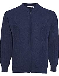775fafb3a8dd Mens Knitted Cardigan Classic Style Cardigans V Neck Zipper Jumper Plain  Coloured