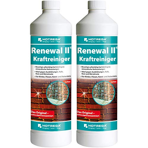 2 x HOTREGA Renewal II Kraftreiniger 1000ml Flasche