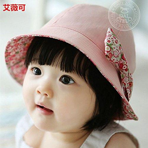 ZHANGYONG*Disco infantile tappo cappuccio pescatore ragazze baby ombrellone cappelli età