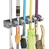 Porte balai, Y-ouni Mural avec 5 Emplacements et 6 Crochets Multi-taches, Solutions de rangement pour porte-balais, systèmes de rangement pour garage