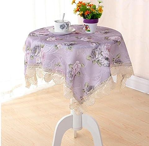GY&H Table pourpre dentelle côté tissu Bar Foulard multifonction Nappe Différentes tailles,purple,90*90cm
