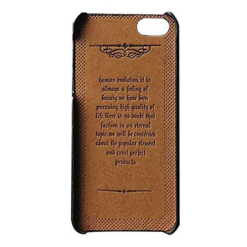 Cuir etui coque housse - TOOGOO(R)iPhone 5s Cuir etui coque housse avec porte-cartes marron elegant snap on Pour protection apple iphone 5 iphone 5S case pochette Noir