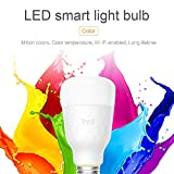 Wellouis Ampoule LED Intelligente WiFi, Ampoule LED Intelligente 10W E27, à intensité réglable et Multicolore, Compatible avec Alexa et Google Home, Télécommande par périphérique Intelligent, 800LM