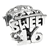 Queenberry Charm en Forme Teen Sweet 16Anniversaire Seize Coeur Love pour Bracelets de Type Pandora/Troll/Chamilia/Biagi Charme Bracelets
