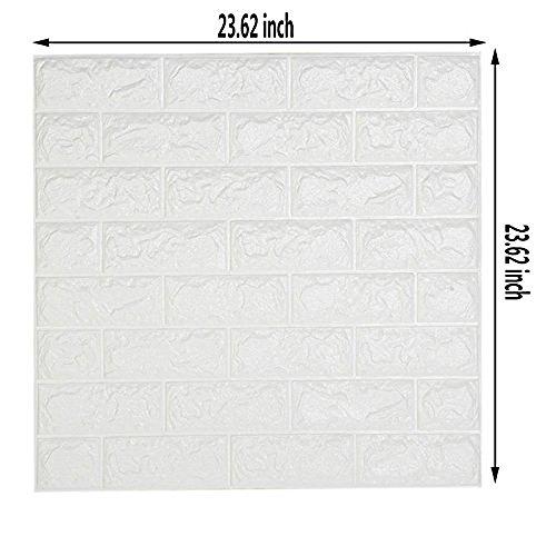 ... DODOING 3D Brick Muster Tapete, 3D Ziegelstein Tapete Wandaufkleber  Wandtattoo Papier Abnehmbare Selbstklebend Tapeten Für ...