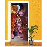 Türaufkleber benutzerdefinierte 3D Umineszenz in Einer Kanone durch Wandbild Tapete Wandbild Drucken Aufkleber Wandbild durch Selbstklebende Wrap 77X200Cm