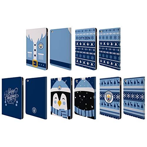 Officiel Manchester City Man City FC Noël Étui Coque De Livre en Cuir Apple iPad