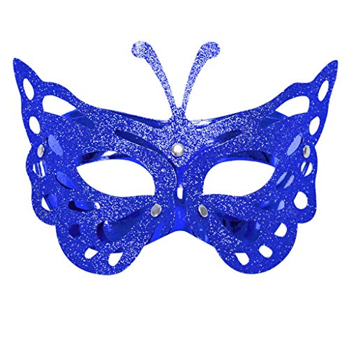 ODJOY-FAN 1pc Karneval Maske, Masken für Damen, Party Karnevalsmaske Venezianisch Maskerade Masken Mardi Gras Party Kostüm Festival Masks (Blau,1 PC)