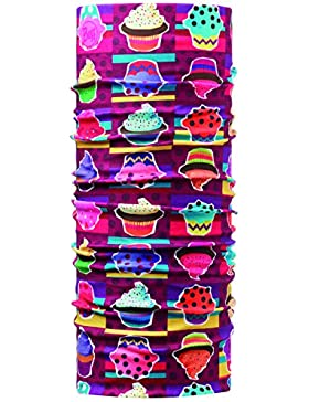 Buff Cappello multifunzione da ragazza, Multicolore (Cupcake), Taglia unica