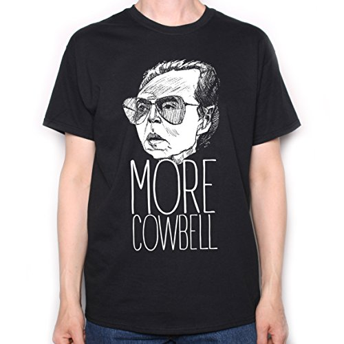 Inspired by Saturday Night Live T shirt - More Cowbell Christopher Walken Illustration Black