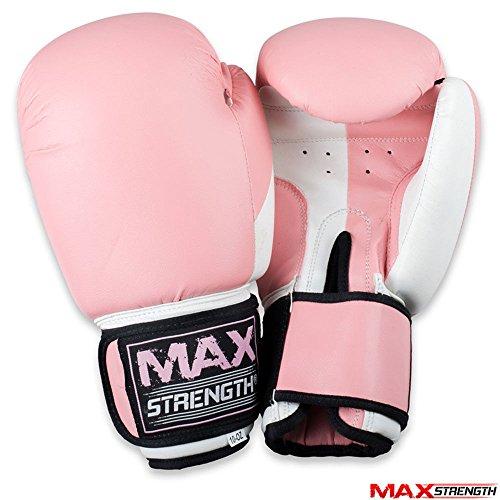 MAXSTRENGTH® Boxhandschuhe Kick Boxsack Muay Thai UFC Kampf Training Mitts MMA Rosa rose 340,2 g (12 oz)