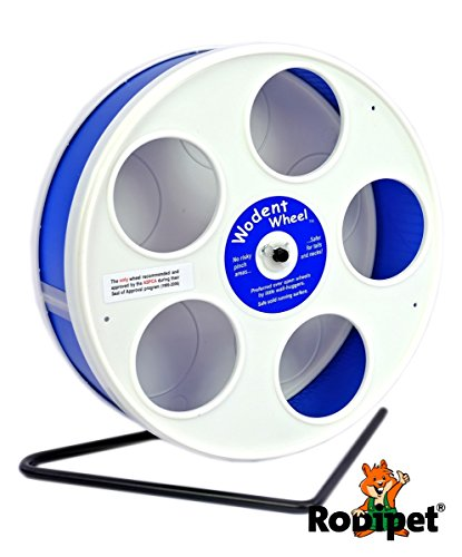"Ø 20 cm Wodent Wheel™ JUNIOR – ""RoboWheel"" weiss/dunkelblau"