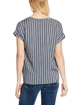 Tom Tailor Denim Women's S-Less Printed Blouseshirt Blouse, Small