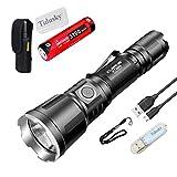 Klarus XT11X Taktische Taschenlampe 3200 Lumen CREE XHP70.2 P2 LED USB wiederaufladbar Leistungsstark Outdoor-Sportarten EDC Taschenlampen, mit 1 * 18650 Batterie + Ruyu Light