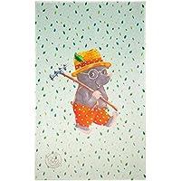 Spiegelburg Garden Oskar der Frosch - Kinderteppich 100x160 cm Farbe Hellgrün, Öko-Tex zertifiziert für Kinderzimmer und Babyzimmer, freundliche Bildmotive