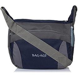 Bag-Age Unisex 15 Ltrs Blue Sling Bag