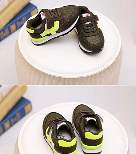 Ohmais Enfants Filles Garçon Chaussure de loisir chaussure de sport souliers Vert