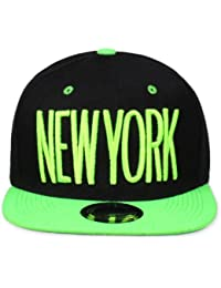 Original Snapback (one size, New York City Schwarz / Neongrün) + Original MY CHICOS Sticker