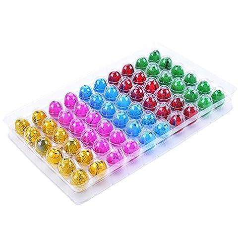 TOOGOO(R)60PCS Hatching Growing Dinosaur Dino Eggs Add Water Magic Cute Children Toy Colorful