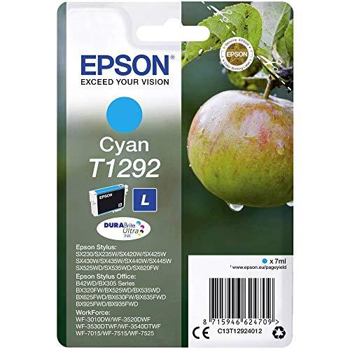 Epson C13T12924012 Cartuccia Inkjet Ink Pigmentato Blister, Ciano
