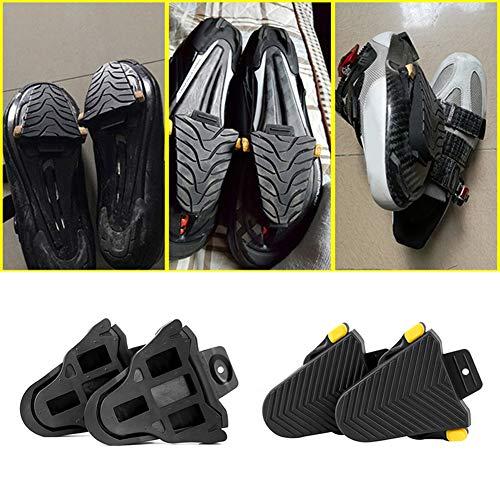 Yimosecoxiang Verschleißfeste 1 Paar Fahrrad Pedal Schutz Gummi Klampe Abdeckung für Shimano SPD-SL Klammern, Einheitsgröße -