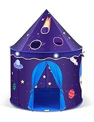 INTEY Tienda Infantil Campaña Carpa para Niños Plegable Juego Castilla Princesa, Educativa y Estimula la imaginación.Para salón y Jardín,Regalo Infantil,Bolso Incluido,Azul