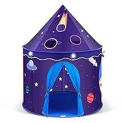 Idea Regalo - INTEY Gioco Tenda per Bambini , Palazzo, Castello Principesco, Teatro per Interni o Esterni , Portatile Pieghevole Tenda Esagonale blu con Custodia