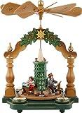Hubrig-Volkskunst Pyramiden Großmutters Weihnachtsstube 35 x 25 cm