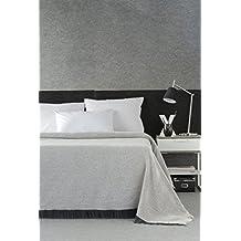 DECORACION NUEVO ESTILO- PLAID-FOULARD MULTIUSOS ESPIGA para camas o sofás, tamaño 180 x 260, color 11 Gris (varias medidas y colores)
