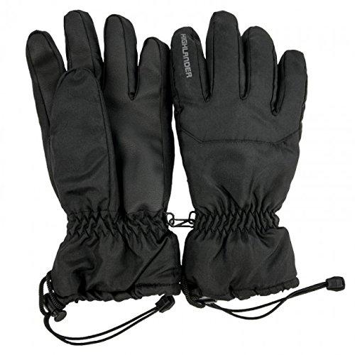 Highlander Gants de Ski Mixte Adulte, Noir, FR (Taille Fabricant : XL)