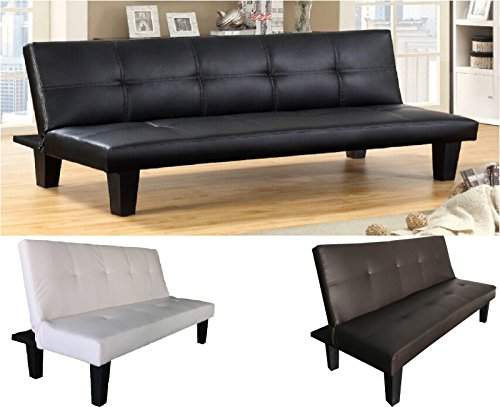"""Tokio"" SCHLAFSOFA BETTSOFA SCHLAFCOUCH SOFA BETTCOUCH LOUNGE COUCH (Weiss)"