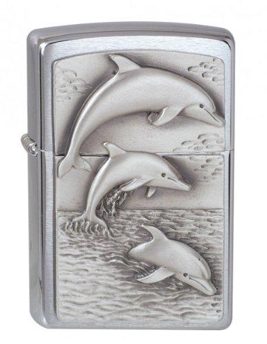 Zippo Feuerzeug 1900456 Dolphins Emblem Benzinfeuerzeug, Messing