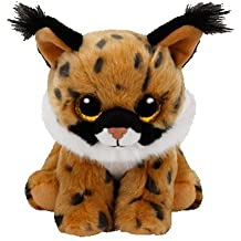 TY - Beanie Babies Larry, lince, 15 cm, color marrón (United Labels Ibérica 41205TY)